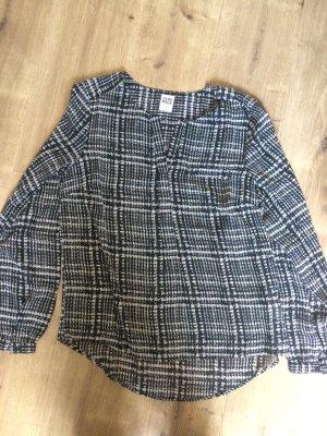 Luftige Bluse in schwarz / weiß