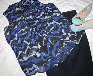 Mouwloze blouse veelkleurig Polyester