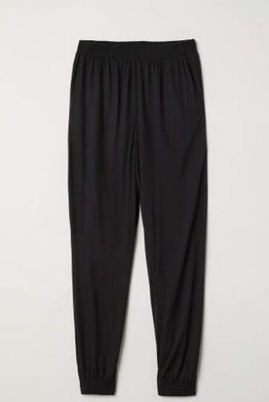 3/4 Length Trousers black viscose