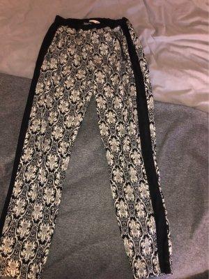 Pantalon taille haute noir-blanc