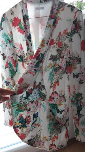 Luftige Jacke mit tropischem Muster