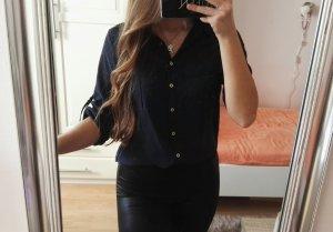 H&M Blusa-camisa azul oscuro