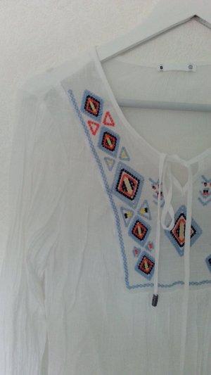 Luftige leichte Tunika mit hübscher Stickerei Gr. m