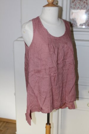 Shirt Tunic rose-gold-coloured-dusky pink linen