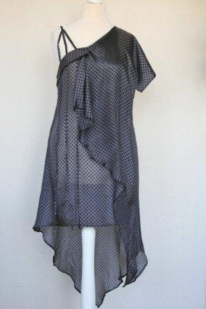 Tunic Dress black-grey violet silk