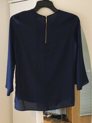 Atmosphere Blusa collo a cravatta blu Poliestere