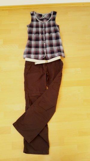 Zero Pantalone cargo marrone scuro