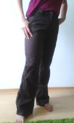 Zero Pantalon cargo brun-brun foncé