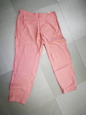 Zara Pantalón tipo suéter rosa claro Viscosa