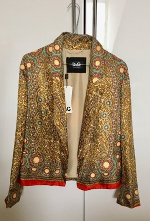 Luftige Sommerjacke von D&G Dolce Gabbana aus 100% Seide, ungetragen & mit Etikett