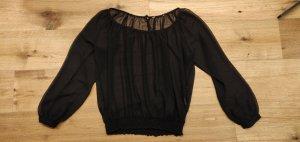 luftige Tunika,  Bluse, Gr M , Mint&Berry, durchsichtig, schwarz