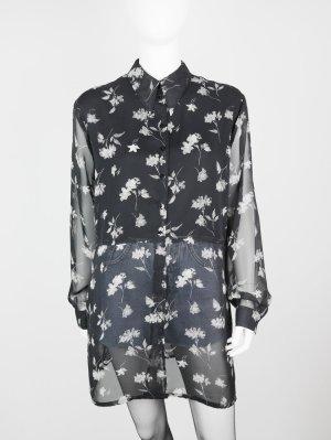 Luftige Vintage Bluse mit All-Over Blumendessin