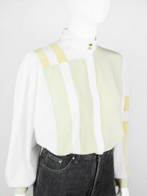 Blusa de cuello alto multicolor Fibra sintética