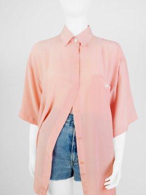 Zijden blouse roze Zijde