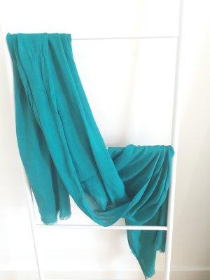 Zara Foulard turquoise lin