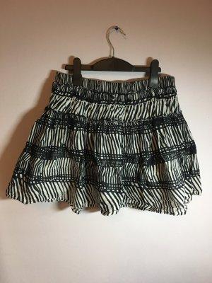 H&M Falda circular blanco-negro