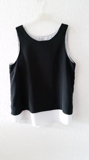 Luftiges Blusentop in Schwarz/Weiß
