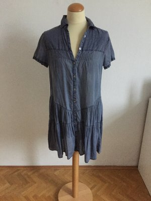 Marc O'Polo Blouse Dress steel blue cotton