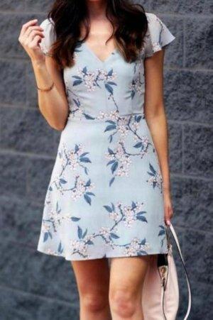 Robe courte bleu azur