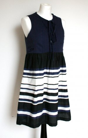 Luftiges Kleid blau, schwarz, weiß gestreift