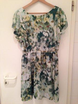 Luftiges Kleid in Grüntönen in Größe 40 von H&M