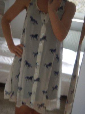 Luftiges Kleid von Quicksilver, S / weiß / blau / NEU