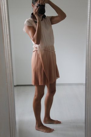 Conleys Robe chiffon abricot-rose clair