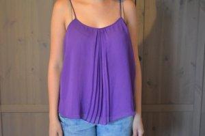 Zara Trafaluc Top con bretelline blu-viola