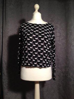 Luftiges Shirt mit Schwanenmuster von H&M