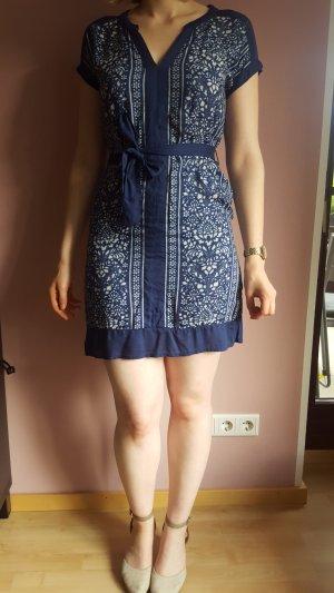 Luftiges Sommerkleid blau-weiß