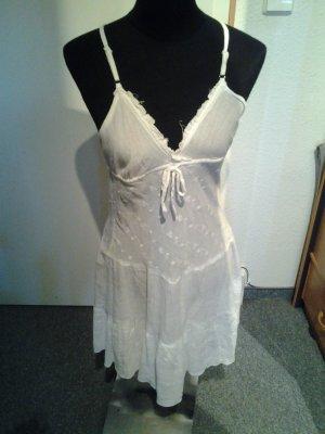 luftiges Sommerkleid in weiß - Blümchen - Melrose - Größe 36