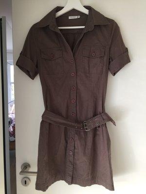 Luftiges Sommerkleid Safari braungrau/khaki 36