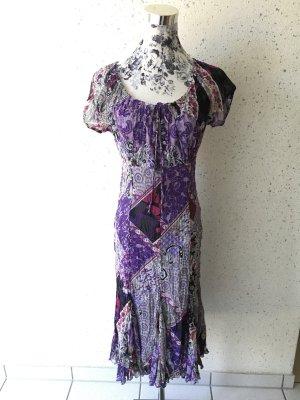 Luftiges Sommerkleid von s.Oliver; lila-pink; Größe 34
