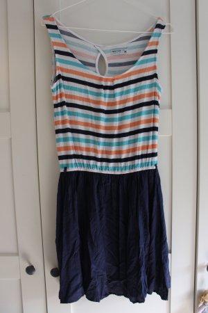 luftiges Sommerkleidchen gestreift/dunkelblau