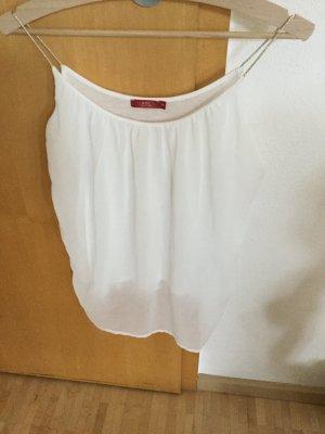 edc by Esprit Haut à fines bretelles blanc-doré