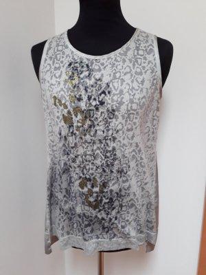 Margittes Lang shirt lichtgrijs Gemengd weefsel