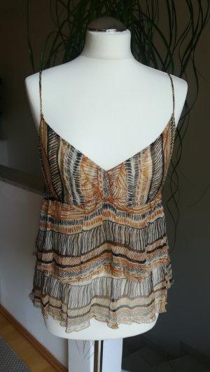 Zara Woman Zijden top veelkleurig Zijde
