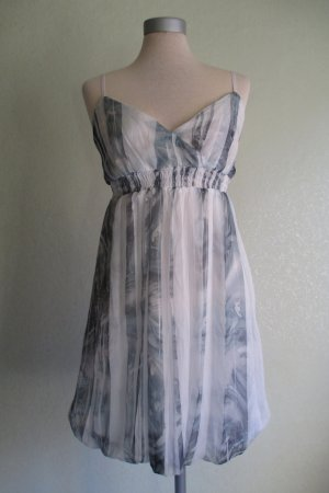 Young Spirit Balloon Dress slate-gray-white polyester
