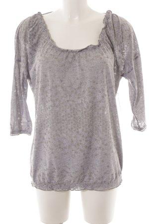 Luhta Blusa tipo Carmen gris claro-gris estampado con diseño abstracto