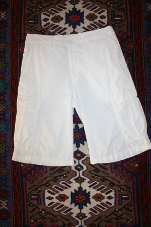 Luhta Hose weiss / Gr. 38 (M) / Bermudas / kurze Hose / Sommerhose / Baumwollhose