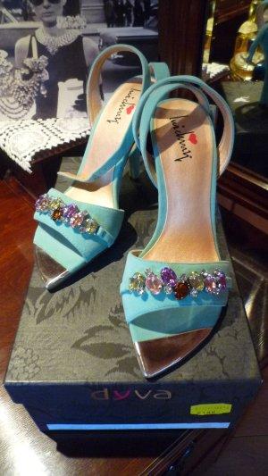 Luichiny Sandaletten High Heels mint Gr. 35 mit Strass NEU