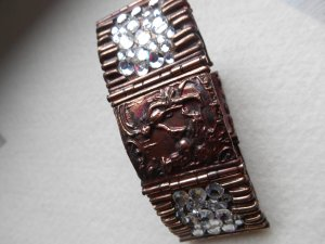Bangle brown red-white metal