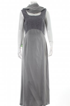 Luis Civit Barcelona Vestido de noche gris-color plata elegante