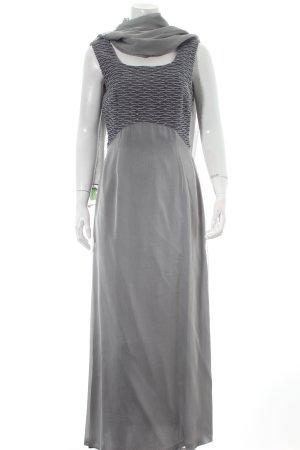 Luis Civit Barcelona Abendkleid grau-silberfarben Elegant