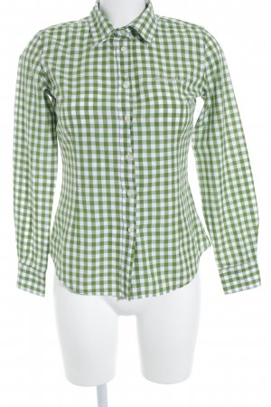 Luis Trenker Karobluse weiß-grasgrün Karomuster Casual-Look