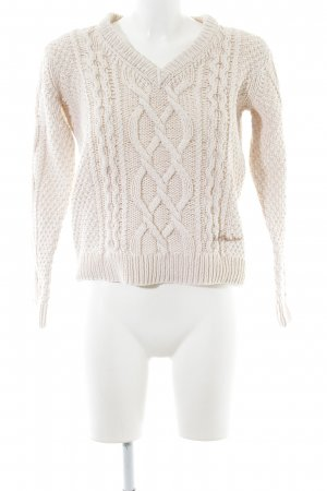 Luis Trenker Cable Sweater cream casual look