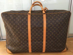 Louis Vuitton Valise brun cuir
