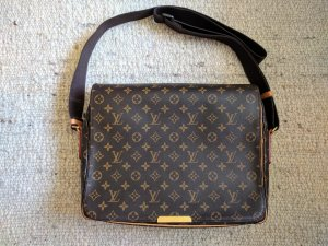 Louis Vuitton Gekruiste tas bruin Leer