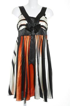 Luisa A-Linien Kleid Streifenmuster extravaganter Stil