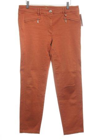 Luisa Cerano Pantalon 7/8 orange foncé style décontracté